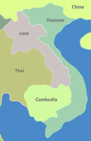 インドシナ半島を南北に走るベトナムの国
